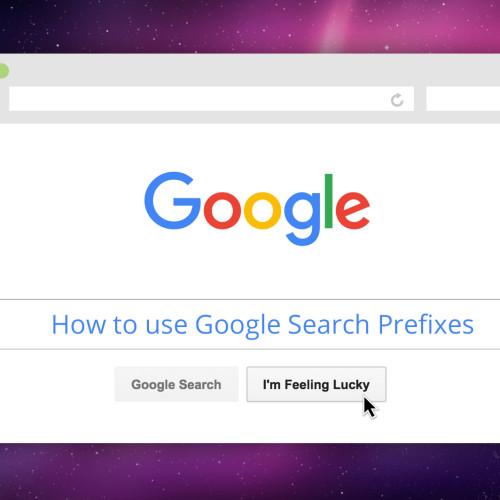 google prefixes